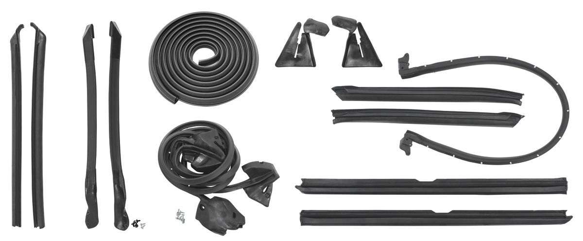 1963 64 cadillac weatherstrip kit stage ii convertible. Black Bedroom Furniture Sets. Home Design Ideas