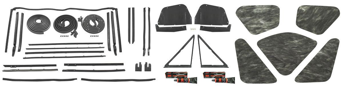 1964 weatherstrip kit stage ii skylark convertible original style felts. Black Bedroom Furniture Sets. Home Design Ideas