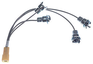 1963-1963 Catalina Dash Extension Harness Lamp Extension Harness Dash To Ammeter, Clock & Gas Gauge Lamps, by M&H