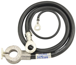 1964-1964 Cutlass Battery Cable, Spring Ring Negative V8, by M&H