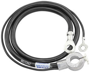 1964 Skylark Battery Cable, Spring Ring Negative V8, by M&H
