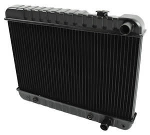"1964-1965 Skylark Radiator, Original Style 1964-65 V8 300 (15-5/8"" X 24-3/4"" X 2"") AT, Downflow (Passenger Upper/Lower Hose), by U.S. Radiator"