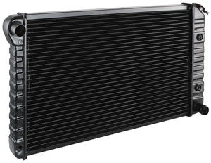 "1965 Cutlass Radiator, Original Style V8 MT (3-Row, 17-3/8"" X 24-3/4"" X 2"", Driver Upper/Passenger Lower Hose)"