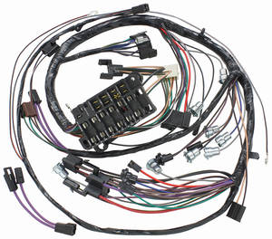 1966-1966 Chevelle Dash/Instrument Panel Harness Console, Auto/Man w/Gauges & C.A.C., by M&H