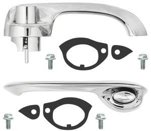 1964-65 Chevelle Door Handle Kit, Complete Outside Rear 4-dr. Sedan & Wagon