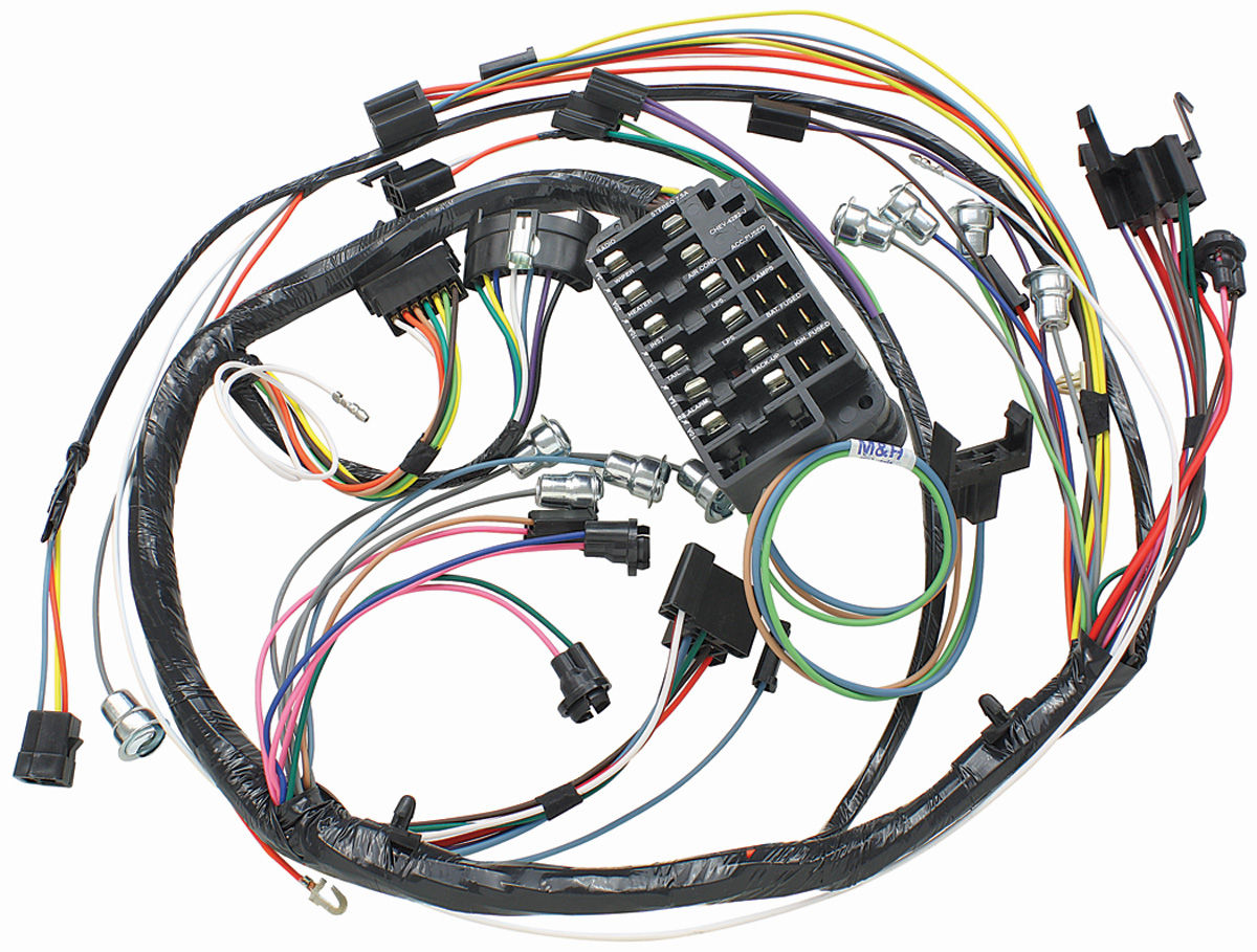 Mh 1966 El Camino Dash Instrument Panel Harness Column Shift Auto 1964 Chevy Wiring Diagram Trans