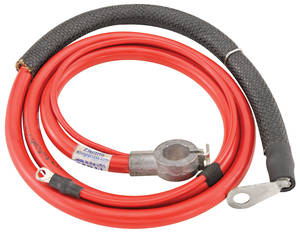 1968 Cutlass Battery Cable, Spring Ring Positive V8, 350CI, w/4-BBL & AT, by M&H