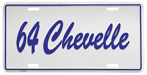 "1964 License Plate, ""Chevelle"" Embossed, by RESTOPARTS"