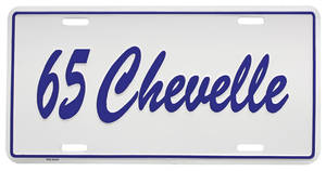 "License Plate, ""Chevelle"" Embossed"