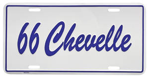 "1966 License Plate, ""Chevelle"" Embossed"