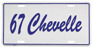 "1967-1967 Chevelle License Plate, ""Chevelle"" Embossed, by RESTOPARTS"