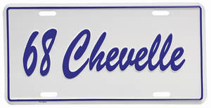"1968-1968 Chevelle License Plate, ""Chevelle"" Embossed, by RESTOPARTS"