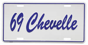 "1969 License Plate, ""Chevelle"" Embossed"