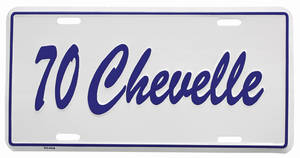 "1970 License Plate, ""Chevelle"" Embossed"