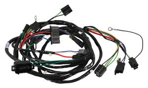 1966 Chevelle Forward Lamp Harness 6-Cylinder and V8 w/Gauges (Alt.: Pass.) (Int. Reg.), by M&H