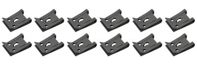 1961-73 GTO Exterior Fold-Over Clips Use w/#6 Tap Screw