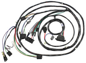 1966-1966 El Camino Forward Lamp Harness 6-Cylinder and V8 w/Gauges (Ext. Reg.), by M&H