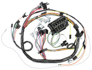 1966-1966 Chevelle Dash/Instrument Panel Harness Console, Auto/Manual w/C.A.C., by M&H