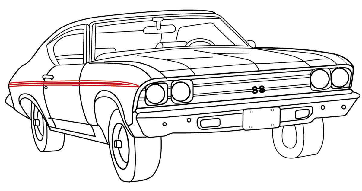 RESTOPARTS Body Stripe Decals, 1969 Super Sport Chevelle