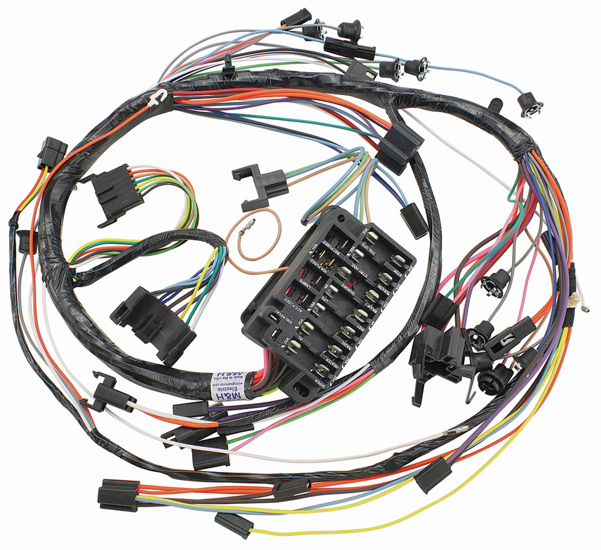 1967 Impala Dash Panel Wiring Explore Diagram On The Net Camaro Under Chevelle Instrument Harness W Gauges By M Ss
