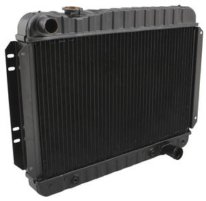 "1966-1967 Chevelle Radiator, Original Style At V8 396 Big Block (15-1/2"" X 25-1/2"" X 2-5/8""), 4-Rows, by U.S. Radiator"