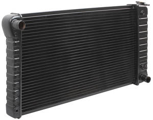 "1969-71 GTO Radiator, Original Style At V8 - 17"" X 28-3/8"" X 2"", Passenger Filler, by U.S. Radiator"