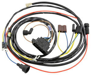 1967 El Camino Engine Harness 6-Cylinder w/Warning Lights, by M&H