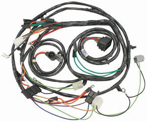 1967 El Camino Forward Lamp Harness 6-Cylinder and V8 w/Gauges (Ext. Reg.)
