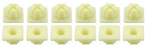 Multi-Purpose Push-In Plastic Nuts Used w/#14 Screw