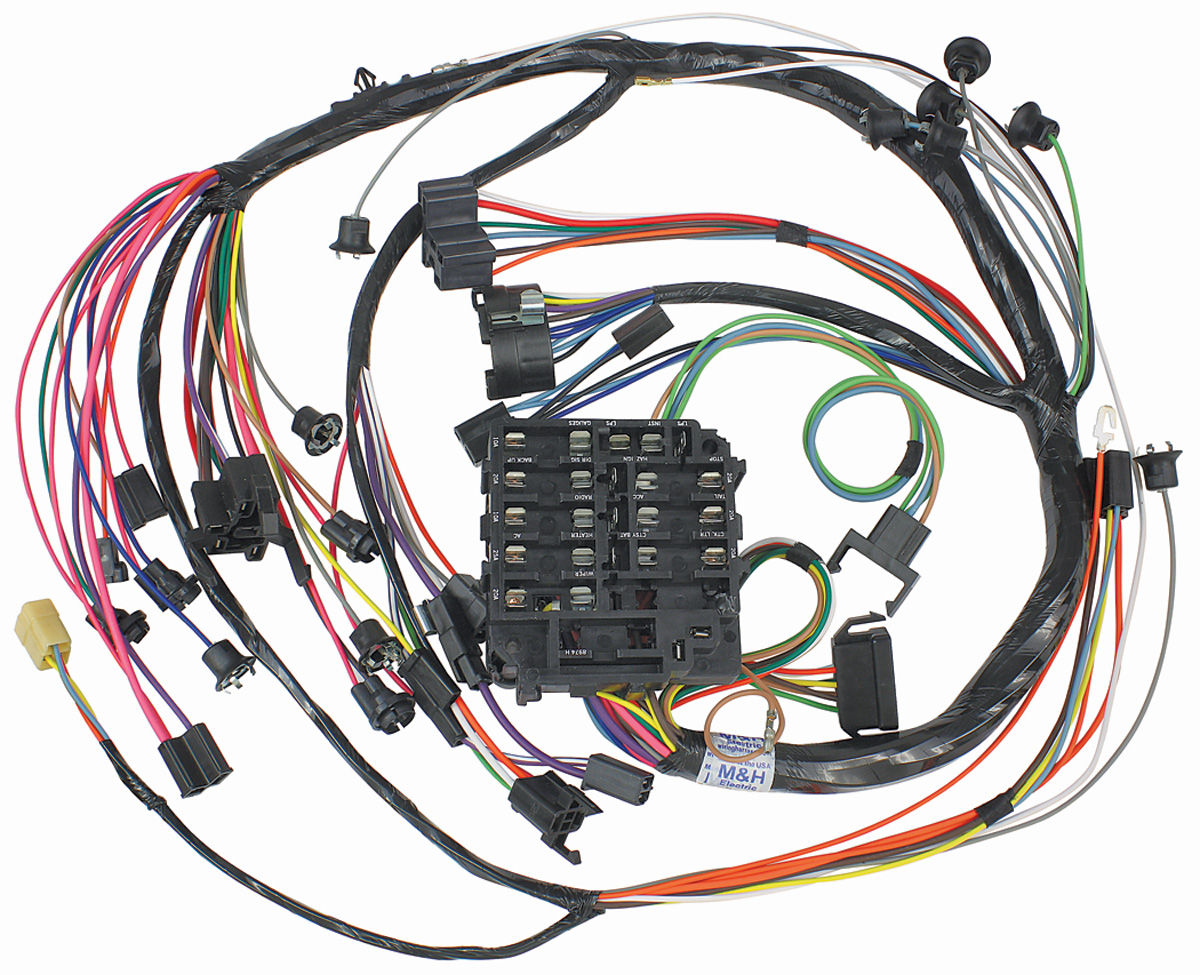 Mh 1968 Chevelle Dash Instrument Panel Harness W Warning Lights Chevrolet Wiring Diagram