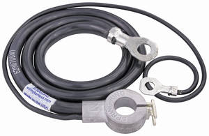 1968 El Camino Battery Cable, Spring Ring Negative V8, 396, by M&H