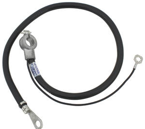 1969 Cutlass/442 Battery Cable, Spring Ring Negative V8, 350CI, w/4-BBL Carb & AT