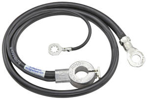 1968 Cutlass Battery Cable, Spring Ring Negative V8, 350CI