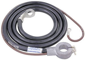 1969 Chevelle Battery Cable, Spring Ring Positive 6-Cylinder, by M&H