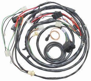 1969-1969 El Camino Forward Lamp Harness V8 w/Gauges (Ext. Reg.), by M&H