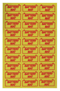 1964-77 Chevelle Battery Mat Tray Saver Yellow, by RESTOPARTS