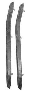 1968 Bumper Guard Insert Strips Chevelle, Rear