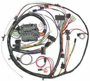 1971 Chevelle Dash/Instrument Panel Harness All, Round. Gauge Type w/SS Gauges, by M&H
