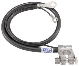 1970 Cutlass Battery Cable, Top Post Negative V8, 455CI, by M&H