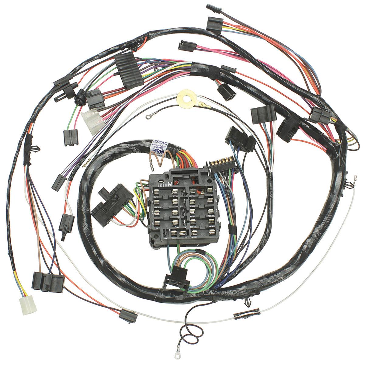 m h 1972 monte carlo dash instrument panel harness round gauge type with ss gauges. Black Bedroom Furniture Sets. Home Design Ideas