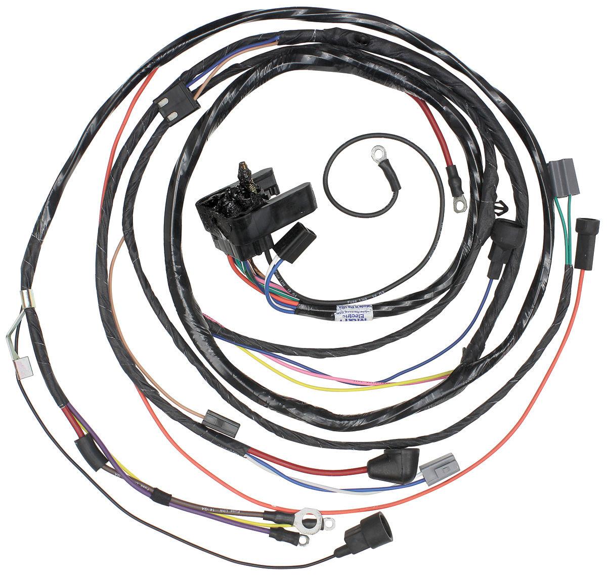 1972 chevelle engine harness v8 w warning lights by m h. Black Bedroom Furniture Sets. Home Design Ideas