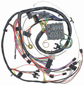 1972 Monte Carlo Dash/Instrument Panel Harness (Round-Gauge Type) with Seat Belt Warning