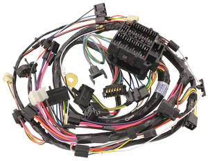 1972-1972 Chevelle Dash/Instrument Panel Harness All, Round Gauge w/SS Gauges & Seat Belt Warning, by M&H
