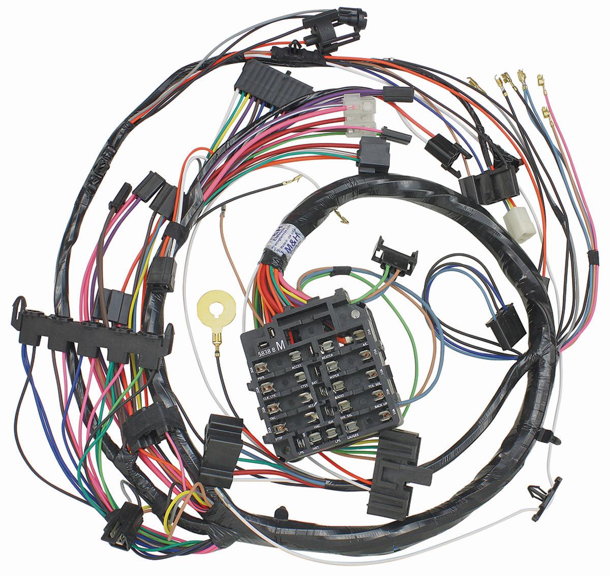 m h monte carlo dash instrument panel harness sweep gauge type fits 1972 monte carlo. Black Bedroom Furniture Sets. Home Design Ideas