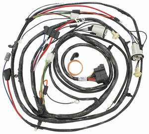 1971-1971 Chevelle Forward Lamp Harness V8 w/Gauges (Ext. Reg.), by M&H