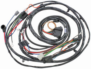 1971-1971 Monte Carlo Forward Lamp Harness (V8 with Gauges), by M&H