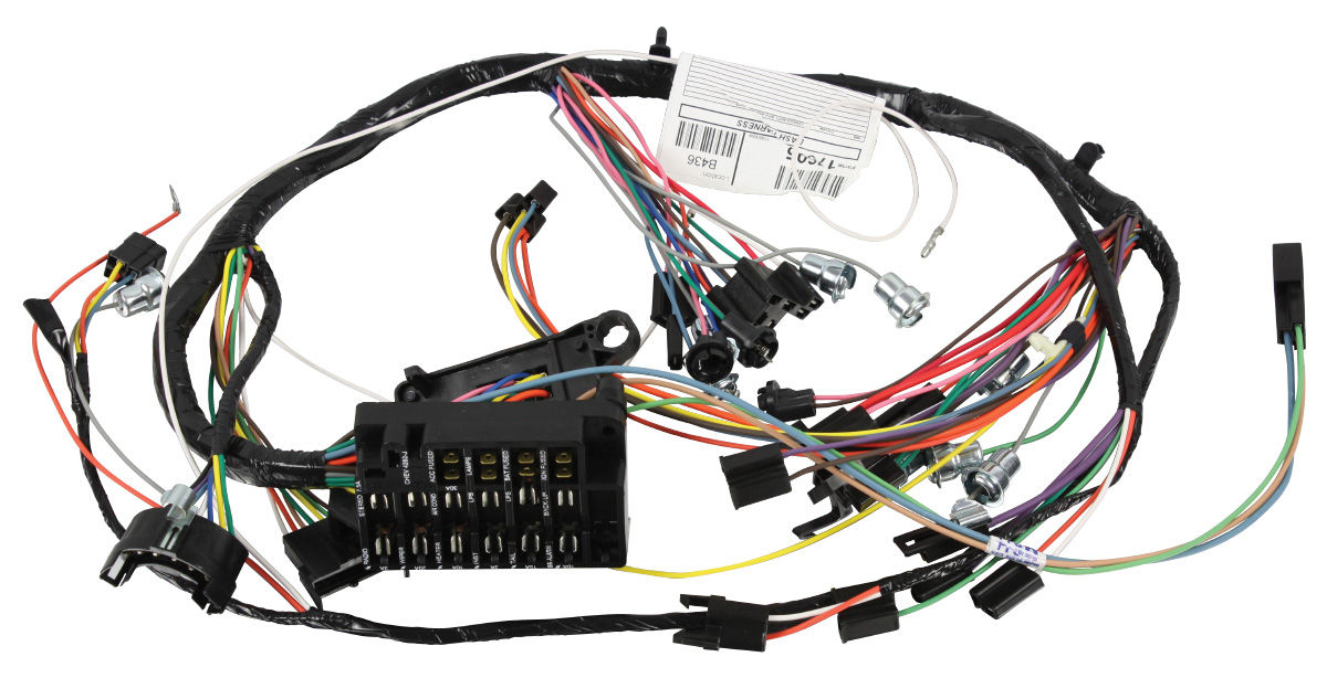 M U0026h Chevelle Dash  Instrument Panel Harness Console  Column