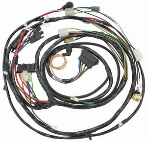 1969-1969 Chevelle Forward Lamp Harness V8 w/Warning Lights (Ext. Reg.), by M&H