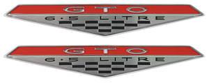 "1964-1968 GTO Fender Emblem, 1964-68 ""GTO 6.5 Litre"""