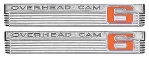 "LeMans Fender Emblem, 1966 ""Overhead Cam 6"""